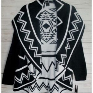 New Directions Southwestern Cardigan Med Aztec